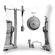 Davy: Gas Machine, 1800 Throw Pillow