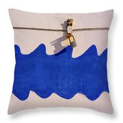 Davy Jones Locker Throw Pillow