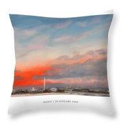Dawn 20 January 2009 Throw Pillow