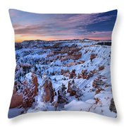 Dawn At Bryce Throw Pillow