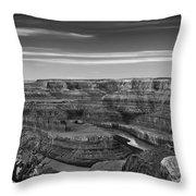Dawn At Dead Horse Point Bw Throw Pillow