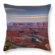 Dawn At Dead Horse Point Throw Pillow