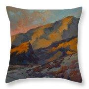 Dawn At La Quinta Cove Throw Pillow