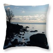 Dawn At The Cove Throw Pillow