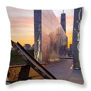 Dawn At The Empty Sky Memorial Throw Pillow