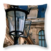 Dawn At The Louvre Throw Pillow