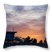Dawn At Venice Beach Throw Pillow