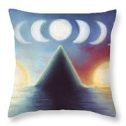 Dawn Dusk And In-between Throw Pillow