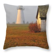 Dawn Fog Throw Pillow by Catherine Reusch Daley