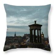 Dawn In Edinburgh Throw Pillow