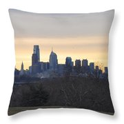 Dawn In Philadelphia Throw Pillow