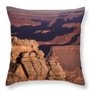 Dawn In The Grand Canyon Throw Pillow