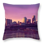 Dawn Kansas City Mo Throw Pillow