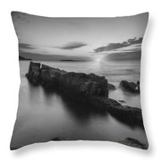 Dawn Of A New Day Bw Throw Pillow