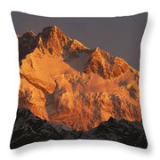 Dawn On Kangchenjunga Talung Throw Pillow