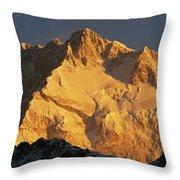 Dawn On Kangchenjunga Talung Face Throw Pillow