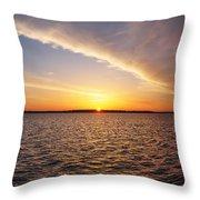 Dawn On The Chesapeak - St Michael's Maryland Throw Pillow