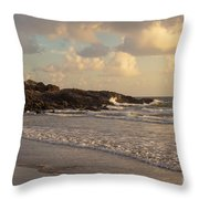 Dawn On The Coral Sea Throw Pillow