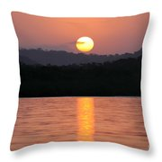 Dawn Over Darien Throw Pillow