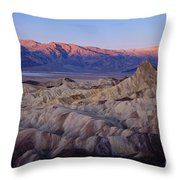 Dawn Over Death Valley Throw Pillow