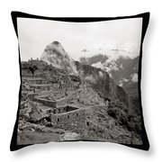 Dawn Over Machu Picchu Throw Pillow