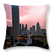 Dawn Over Singapore Throw Pillow