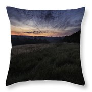Dawn Over The Hills Throw Pillow