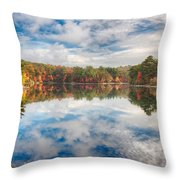 Dawn Reflection Of Fall Colors Throw Pillow