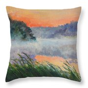 Dawn Reflection Study Throw Pillow