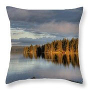 Dawn Reflections On Pelican Bay Throw Pillow