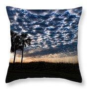 Dawn Silhouettes Throw Pillow