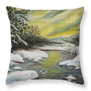 Dawning Of A Winter Day Throw Pillow