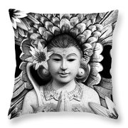 Dawning Of The Goddess Throw Pillow by Christopher Beikmann