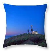 Dawn's Early Light At Montauk Point Throw Pillow