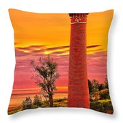 Dawn's Light At Little Sable Throw Pillow