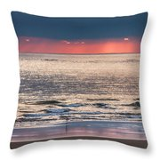 Dawns Red Sky Reflected Throw Pillow