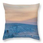 Dawson City Ice Bridge Throw Pillow by Priska Wettstein