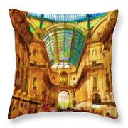 Day At The Galleria Throw Pillow