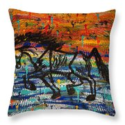 Day Dreaming In The Rain Throw Pillow
