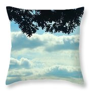 Day Dreaming With Clouds Throw Pillow