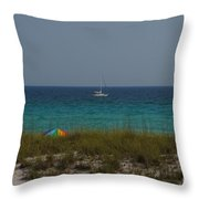 Day In Paradise Throw Pillow