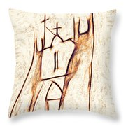 Day In Taos Throw Pillow