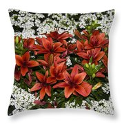 Day Lillies Throw Pillow
