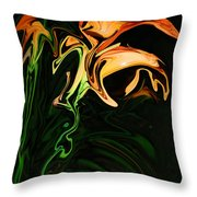 Day Lily At Night Throw Pillow