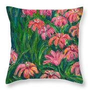 Day Lily Rush Throw Pillow