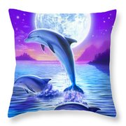 Day Of The Dolphin Throw Pillow