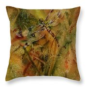 Day Of The Dragonfly Throw Pillow