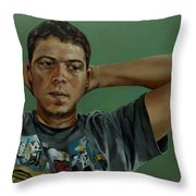 Day Portrait Of A Young Man Throw Pillow