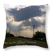 Day The Lord Made Psalm 118 Throw Pillow