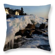 Daybreak At Cove Point Lodge Cottages Throw Pillow